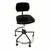 ShopSol Industrial fauteuil avec repose-pieds de 2 niveaux - acier