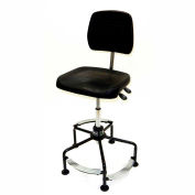 ShopSol Deluxe Industrial Chair with 3-level Steel Footrest and Extra Large Seat