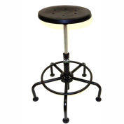 ShopSol Utility Stool with 14 Diameter Seat-Pentagon Foot Ring