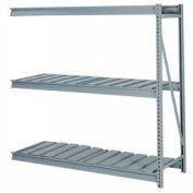 """En vrac stockage Rack Add-on, niveau 3, striées de platelage, W 60"""" x 24 «D x 60» H gris"""