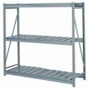 """En vrac stockage Rack Starter, niveau 3, striées de platelage, 60"""" W x 24 «D x 60» H gris"""