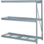 """En vrac de stockage Rack fil d'Add-on, 3 niveaux, platelage, W 60"""" x 24 «D x 72» H gris"""