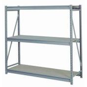 """En vrac de stockage Rack Starter, niveau 3, panneaux de particules, W 72"""" x 24 «D x 60» H gris"""