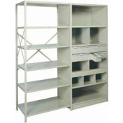 "Shelf Divider, 24""Dx9""H Gray (12) pcs"