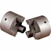 "Cast Iron Jaw Coupling Hub, Style L050, 1/2"" Bore Diameter, 1/8 x 1/16 Keyway"