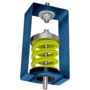 Dispositif antivibratile à ressortsuspendu,2-1/2 po L x 2-7/8 po l x 4-1/4 po H, jaune