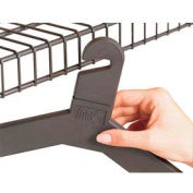 Slotted Hook Hangers, 100 Pack, Charcoal Gray