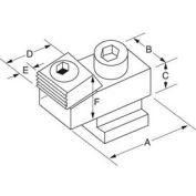 Mitee-morsure de 24000 - T-fente Toe pinces aucun écrou ou vis Mtg 65ft/Lbs - Min Qté 3 - Made In USA