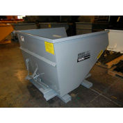 Stacking Feature for 1-1/2 Cu Yd and Larger Wright Self-Dumping Hoppers - Gray