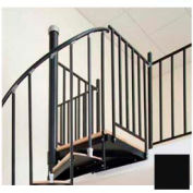"The Iron Shop, Steel Tube Balcony Rail, 3'6"", Black"