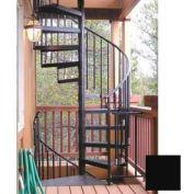 "The Iron Shop, Standard Steel/Dmd Plt, 4'0"", One Add'l Riser, Black"