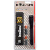 Maglite® SP2P01H Mini Pro™ 2 Cell AA LED Flashlight Black
