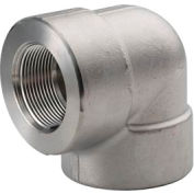 """Ss 304/304l Forged Pipe Fitting 3/8"""" 90 Degree Elbow Npt Female - Pkg Qty 10"""