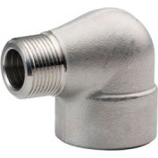 """Ss 304/304l Forged Pipe Fitting 1"""" 90 Degree Street Elbow Npt Male X Female - Pkg Qty 3"""