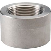 "Ss 304/304l Forged Pipe Fitting 3/4"" Half Coupling Npt Female X Plain - Pkg Qty 23"