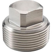 "Ss 304/304l Forged Pipe Fitting 1-1/2"" Square Head Plug Npt Male - Pkg Qty 7"