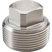 "Ss 316/316l Forged Pipe Fitting 1-1/2"" Square Head Plug Npt Male - Pkg Qty 5"