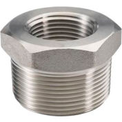 "Ss 304 Barstock Hex Head Bushing 2-1/2 X 1-1/2"" Npt Male X Female - Pkg Qty 5"