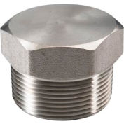 "Ss 304 Barstock Hex Head Plug 3"" Npt Male - Pkg Qty 2"