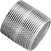 Mamelon de tuyau Cédule 40 en aluminium 3 X étroite Npt mâle, qté par paquet : 10