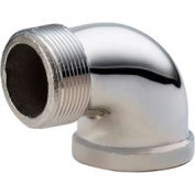 Chrome Plated Brass Pipe Fitting 2 90 Degree Street Elbow Npt Male X Female - Pkg Qty 5