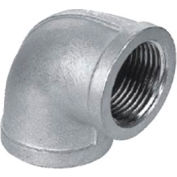"Iso Ss 304 Cast Pipe Fitting 90 Degree Elbow 1/4"" Npt Female - Pkg Qty 75"