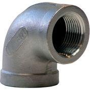 Coude de90 degrés Import, 1-1/2 po, acier inoxydable 304,FNPT, classe 150, 300 psi