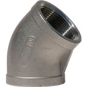 1 In. 304 Stainless Steel 45 Degree Elbow - FNPT - Class 150 - 300 PSI - Import
