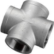 "Iso Ss 304 Cast Pipe Fitting Cross 3"" Npt Female - Pkg Qty 2"