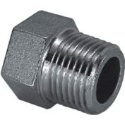 "Iso Ss 304 Cast Pipe Fitting Hex Head Plug 1/8"" Npt Male - Pkg Qty 125"