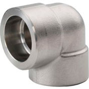 "Ss 304/304l Forged Pipe Fitting 1-1/2"" 90 Degree Elbow Socket Weld - Pkg Qty 3"