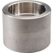 """Ss 316/316l Forged Pipe Fitting 1-1/2 X 1/2"""" Reducing Coupling Socket Weld - Pkg Qty 3"""