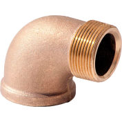 1-1/2 In. Lead Free Brass 90 Degree Street Elbow - MNPT X FNPT - 125 PSI - Import