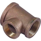 "Brass 125 Lb Lead Free Fitting 1/4"" Tee Npt Female - Pkg Qty 24"