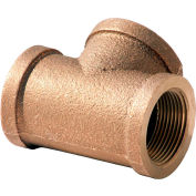 1-1/4 In. Lead Free Brass Tee - FNPT - 125 PSI - Import