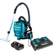 Makita XCV05PT 18V X2 36V Sans brosse sans fil 1/2 Gal HEPA Filtre Sac à dos Dry Dust Vacuum Kit 5Ah