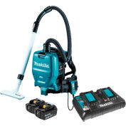 Makita XCV05PT 18V X2 36V Brushless Cordless 1/2 Gal HEPA Filter Backpack Dry Dust Vacuum Kit 5.0Ah