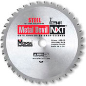 "Circular Saw Blade - 7"" Dia. - 44 TPI - 20mm Arbor - USA - M.K. Morse Metal Devil NXT CSM744NSSC"