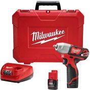 """Milwaukee 2463-22 M12™ 3/8 """"kit clé à chocs sans fil lithium-ion"""