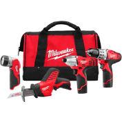 Milwaukee 2498-24 M12 sans fil 4-outils Combo Kit