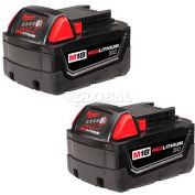 Milwaukee® 48-11-1822 18V Li-ion M18 3Ah batterie étendue capacité 2Pk