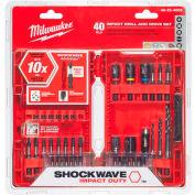 Milwaukee® 48-32-4006 SHOCKWAVE™ 40-Piece perceuse & Drive Bit Set, qté par paquet : 5