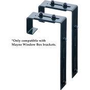 Mayne® Adjustable Deck Rail Brackets, Black (Pack of 2)