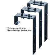 "Mayne® 3833 Adjustable Deck Rail Bracket, Steel, 5.75"" x 9.75"" x 1.75"", 3/Pack"