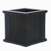 Mayne® Cape Cod 14» x 14» Planteur carré, Noir