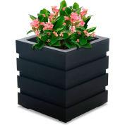 Mayne® Freeport 18» x 18» Planteur carré, Noir