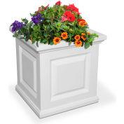 Mayne® Nantucket 16» x 16» Planteur carré, Blanc