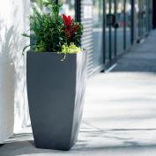 "Mayne® Kobi Tall Planter, 20""L x 20""W x 38""H, Square, Graphite Grey"
