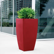 "Mayne® Kobi Tall Planter, 20""L x 20""W x 38""H, Square, Red"