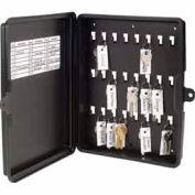 MMF STEELMASTER® 24-Key Plastic Key Storage Box 201712404 Black